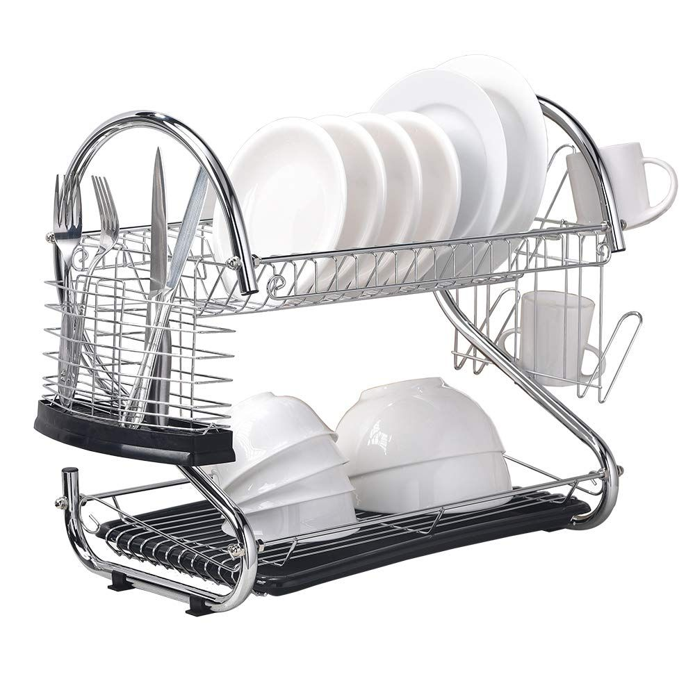 Wtape Modern Steel Rust Proof Kitchen In Sink Two Tier Dish Drying