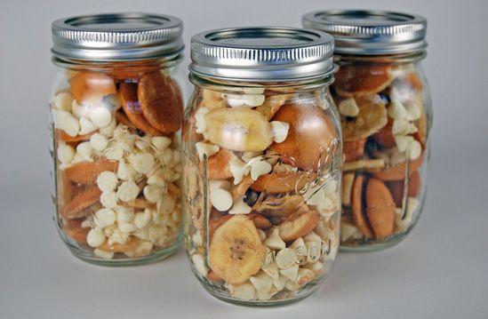 Image result for snacks in mason jars