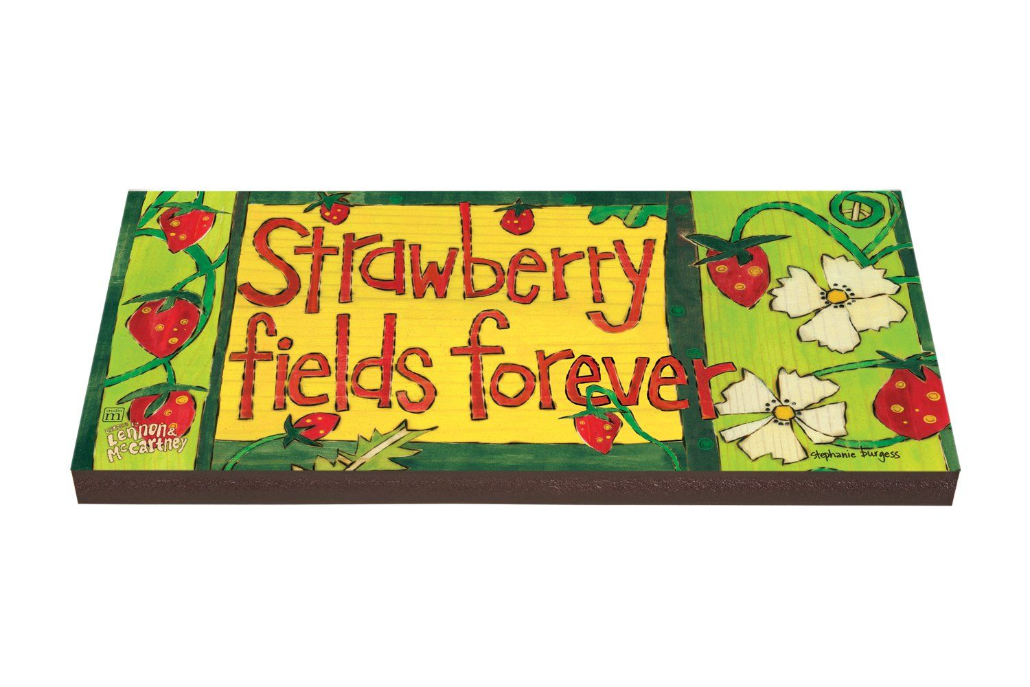 Strawberry fields forever outdoor wall art/plank new | Outdoor wall ...