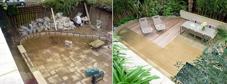 Before And After Of Regents Park Garden
