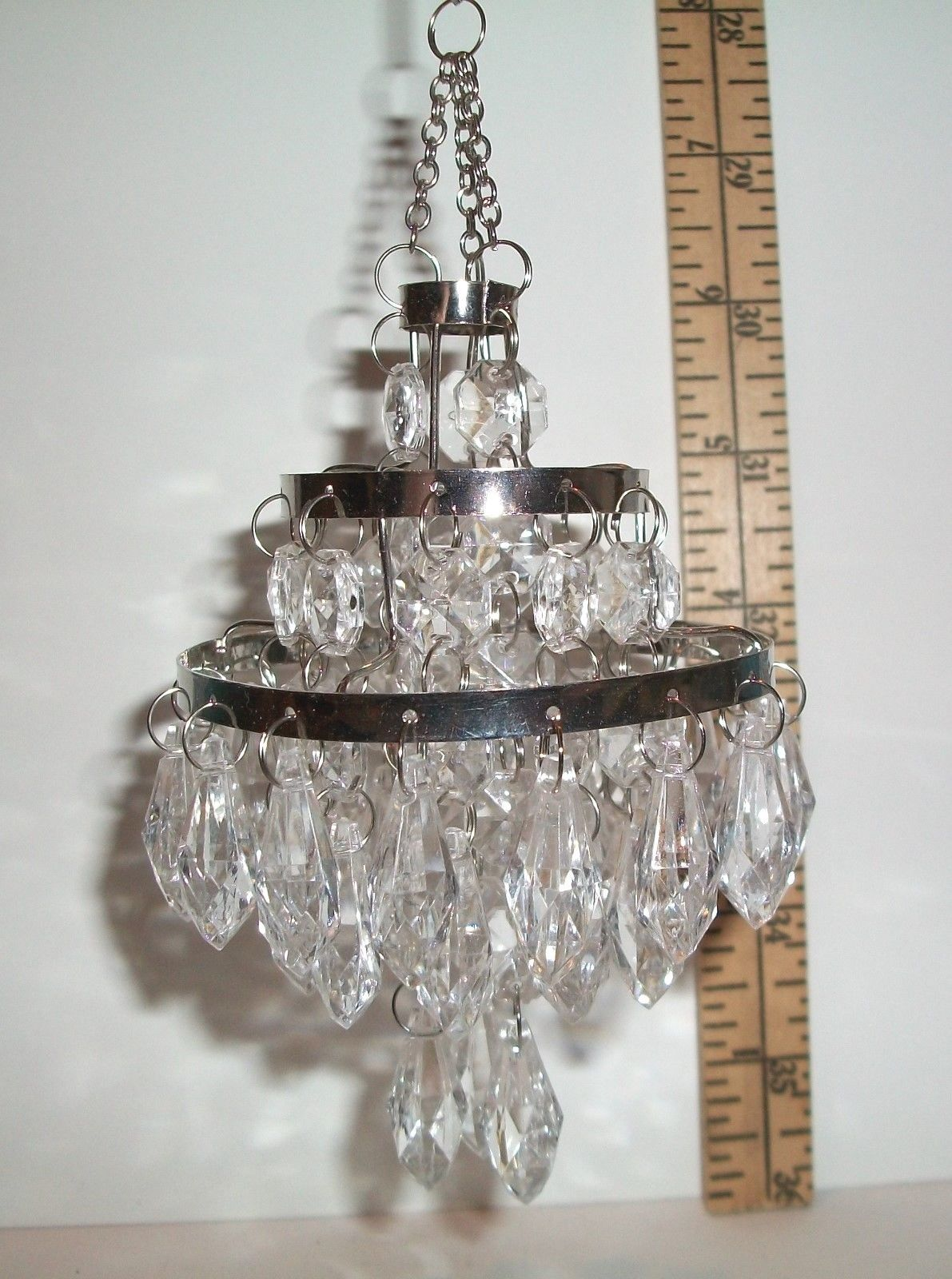 Miniature 1 6 Scale Fashion Doll Dollhouse Hanging Bead Chandelier Accessory 1 Ebay