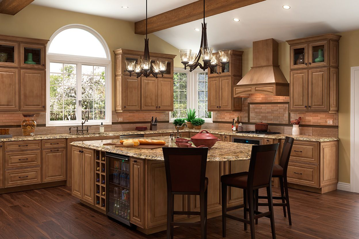 Mckinley Maple Mocha Glaze Kitchen Cabinet Styles Kitchen Style Wood Floor Kitchen