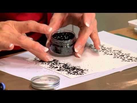 Crafting My Style with Sue Wilson - Ebony Ice Embellished Stacked Diamond Striplet, Portugeause Sintra