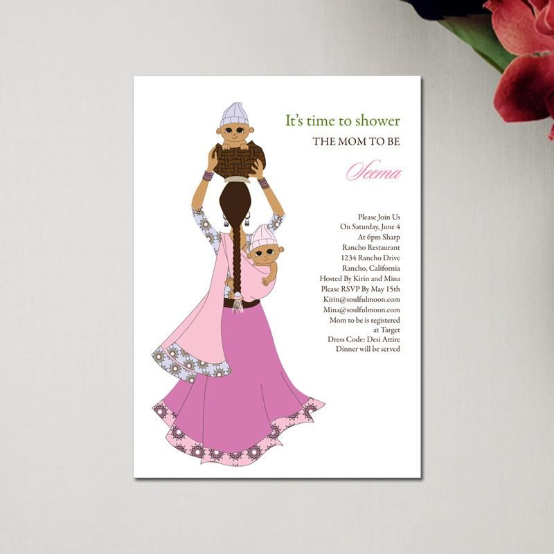 twin baby shower invitations | Indian Baby Shower Invitations ...