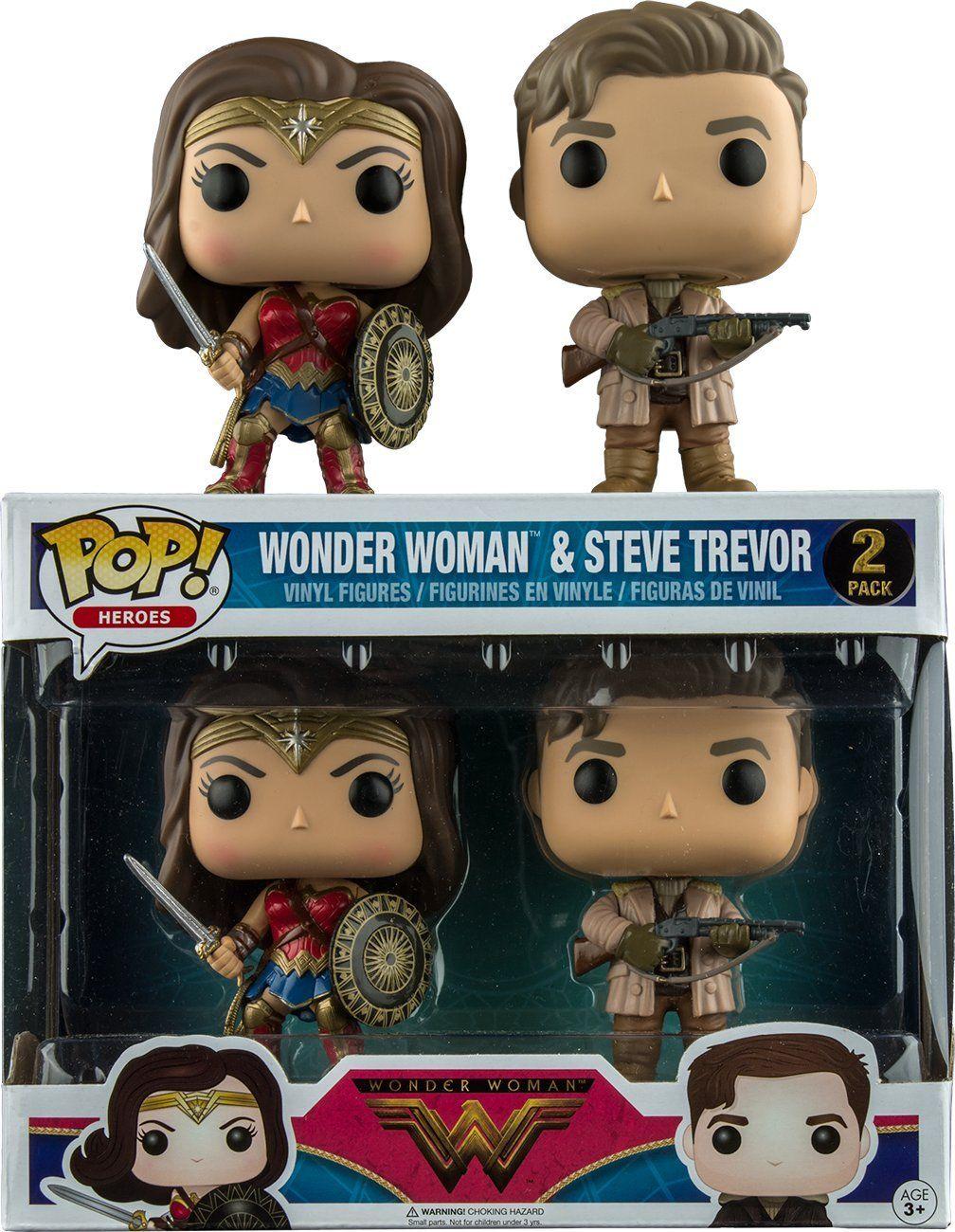 2 Pack DC Wonder Woman /& Steve Trevor Action Figure