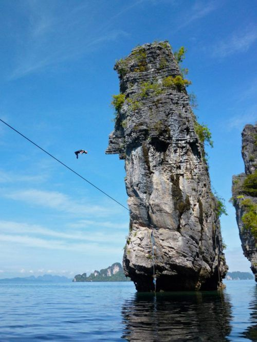 High line diving in Thailand