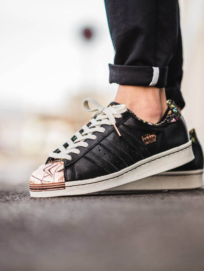 adidas superstars rose gold toe