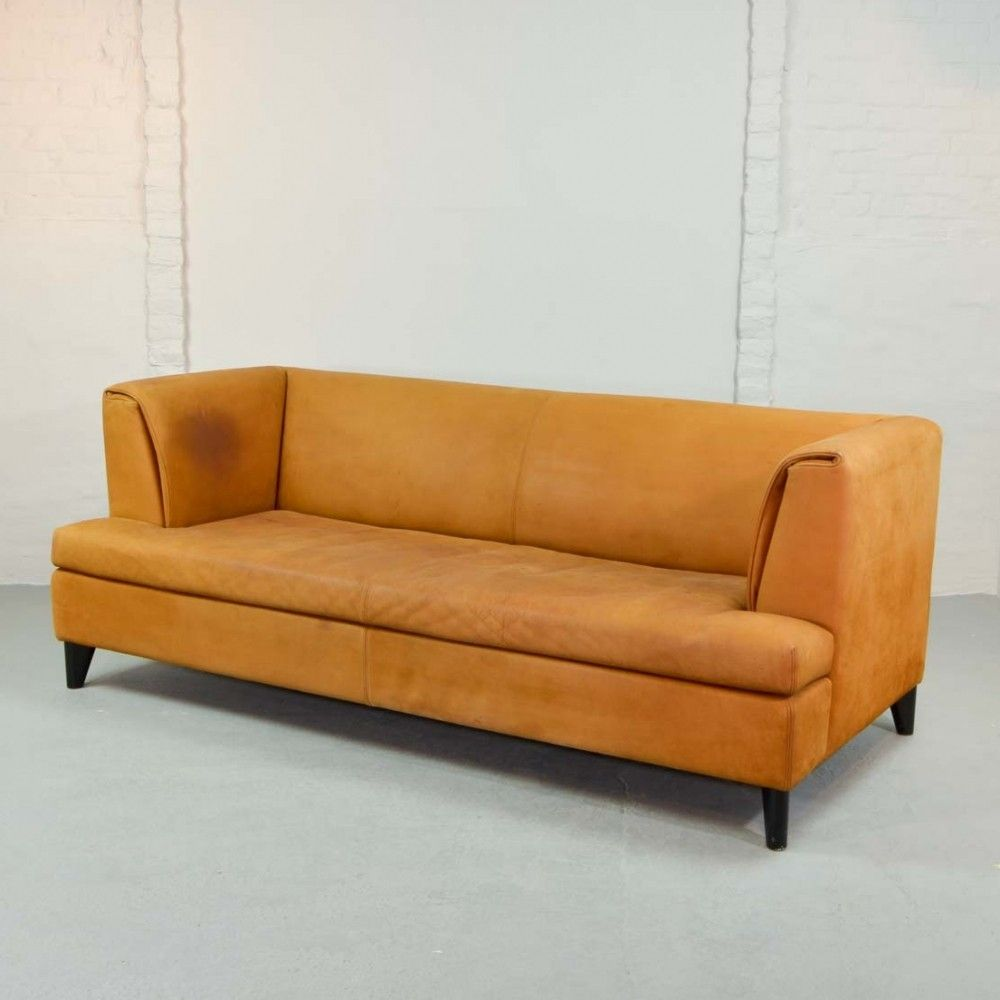 Awesome Cognac Colored Nubuck Leather Sofa By Paolo Piva For Ocoug Best Dining Table And Chair Ideas Images Ocougorg