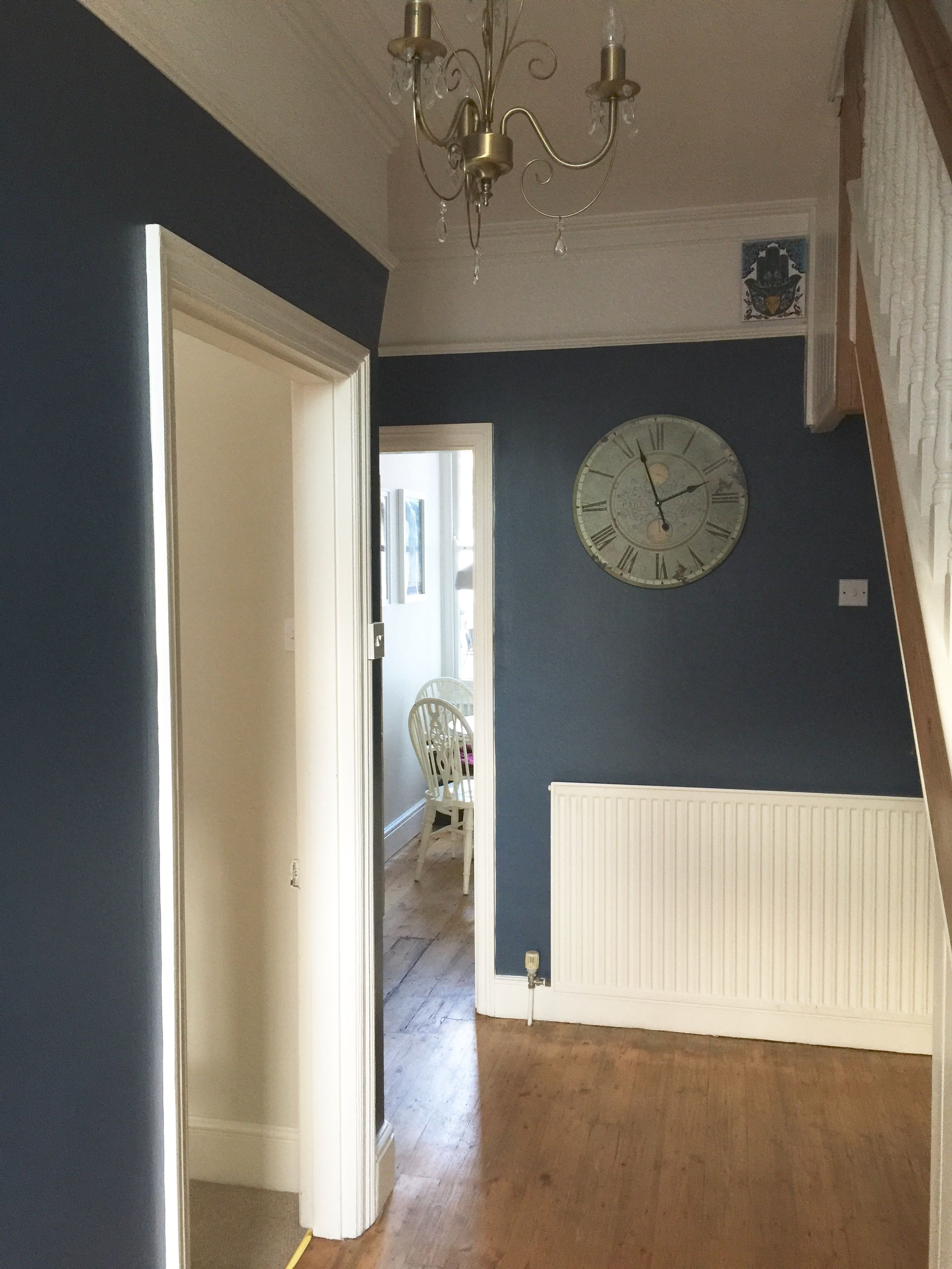 Our Hallway Farrow Ball Stiffkey Blue Love It Now Need To Fix