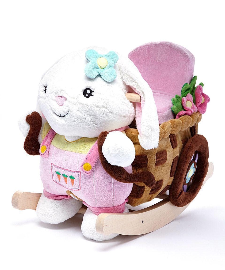 Beatrice Bunny Play Rock Rocker By Critters By Rockabye Zulily Zulilyfinds Rocking Toy Baby Rocker Toy Rockers