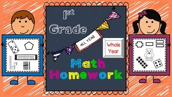 BUY NOW and save $10!!!  This GROWING MATH HOMEWORK BUNDLE for 1st Grade is a great weekly homework packet that will review all common core strands on a weekly basis. It is very kid-friendly, easy to read, examples are given for most problems, and it's packed with real work...not just time-wasting work.