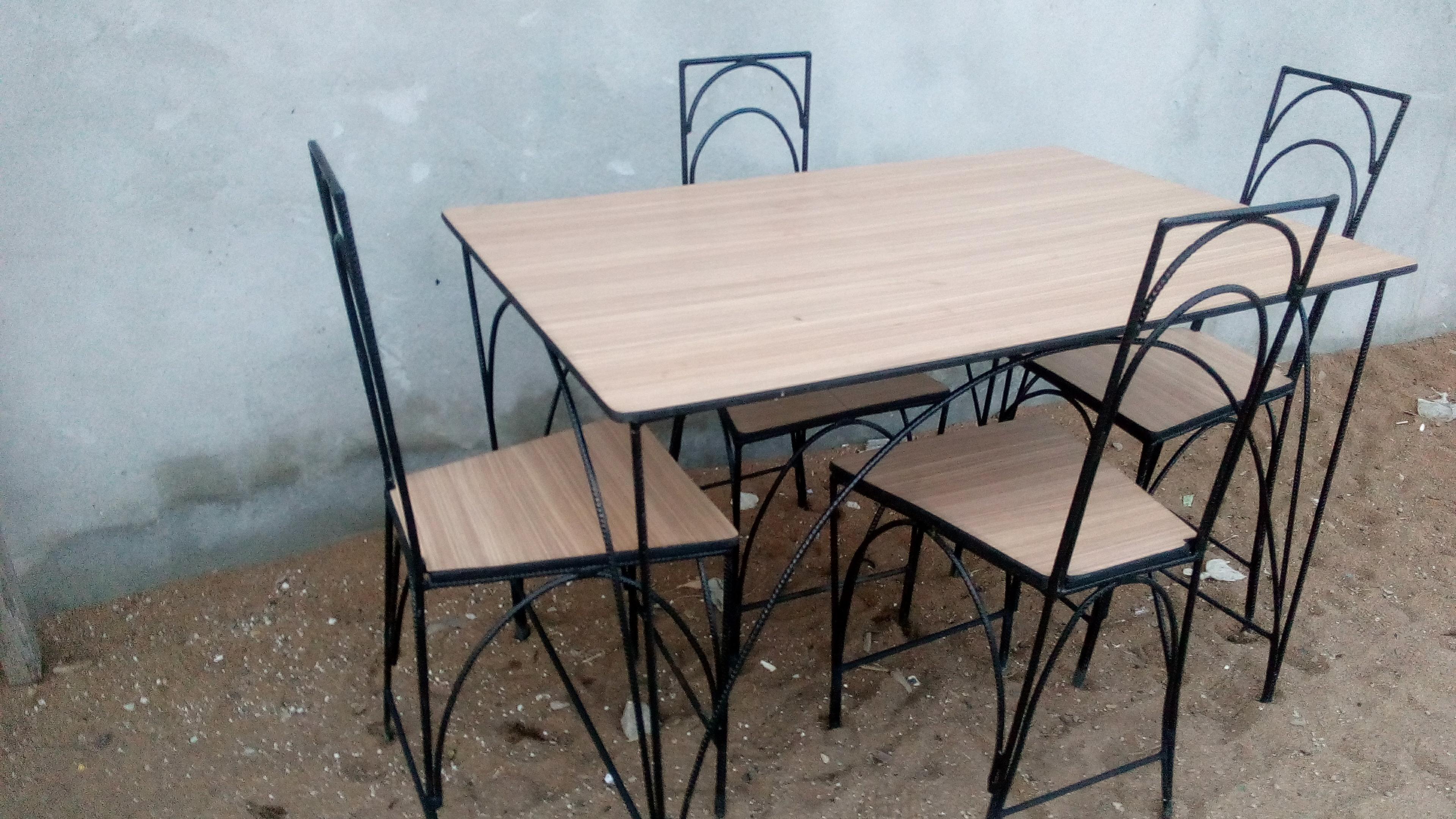 table a manger fer forge et bois home