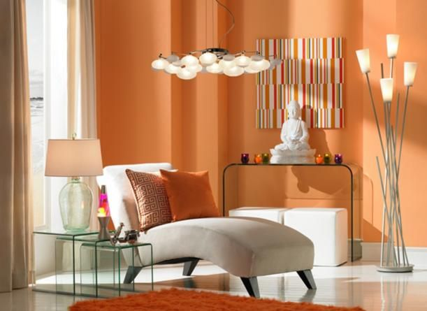 Tangerine Dream A Living Room Design With Eclectic Style Lighting Decor By