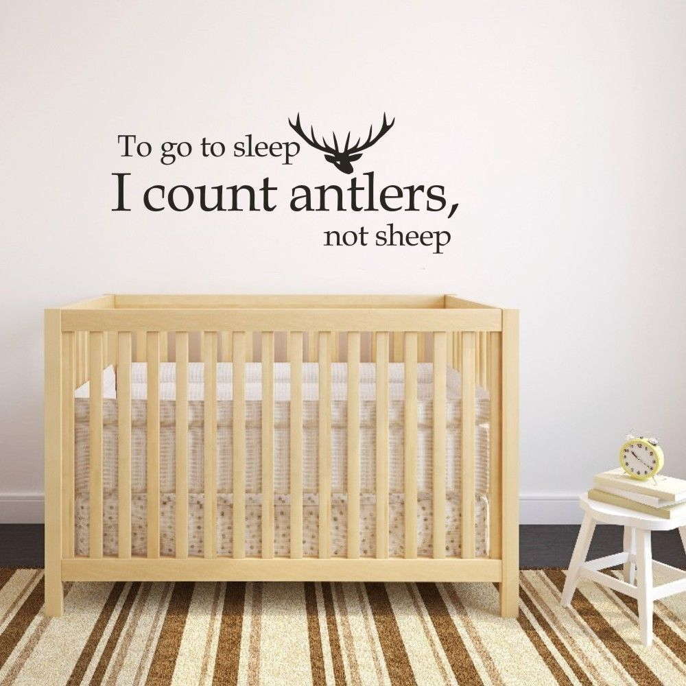 Go to Sleep Antler Wall Decal Inspirational Love Quote Vinyl Art ...