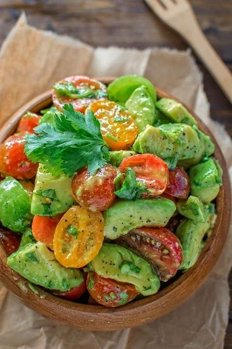 Tomato Salad -  Healthy and so flavorful, this Tomato Avocado Salad makes a great addition to your