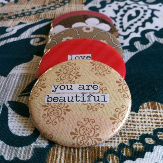 You Are Beautiful Pocket Mirror by PinMeDown on Etsy