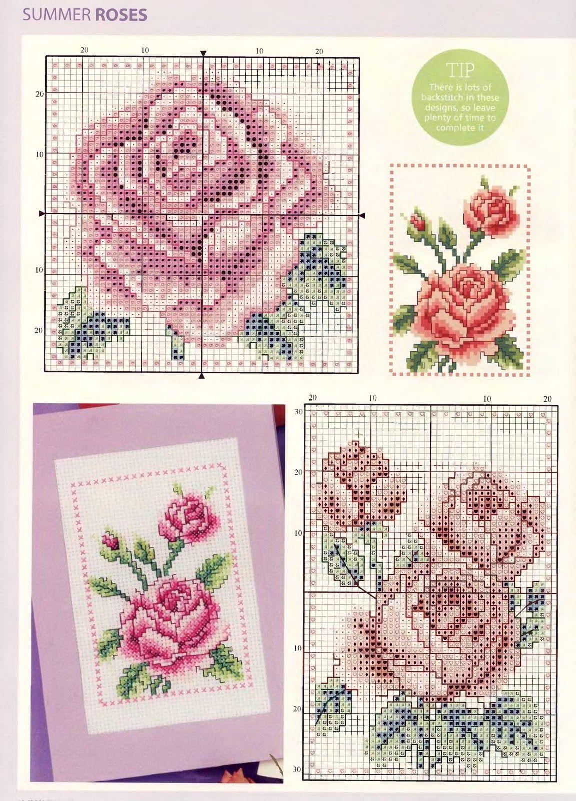 Вышивка открытка цветок, днем рождения