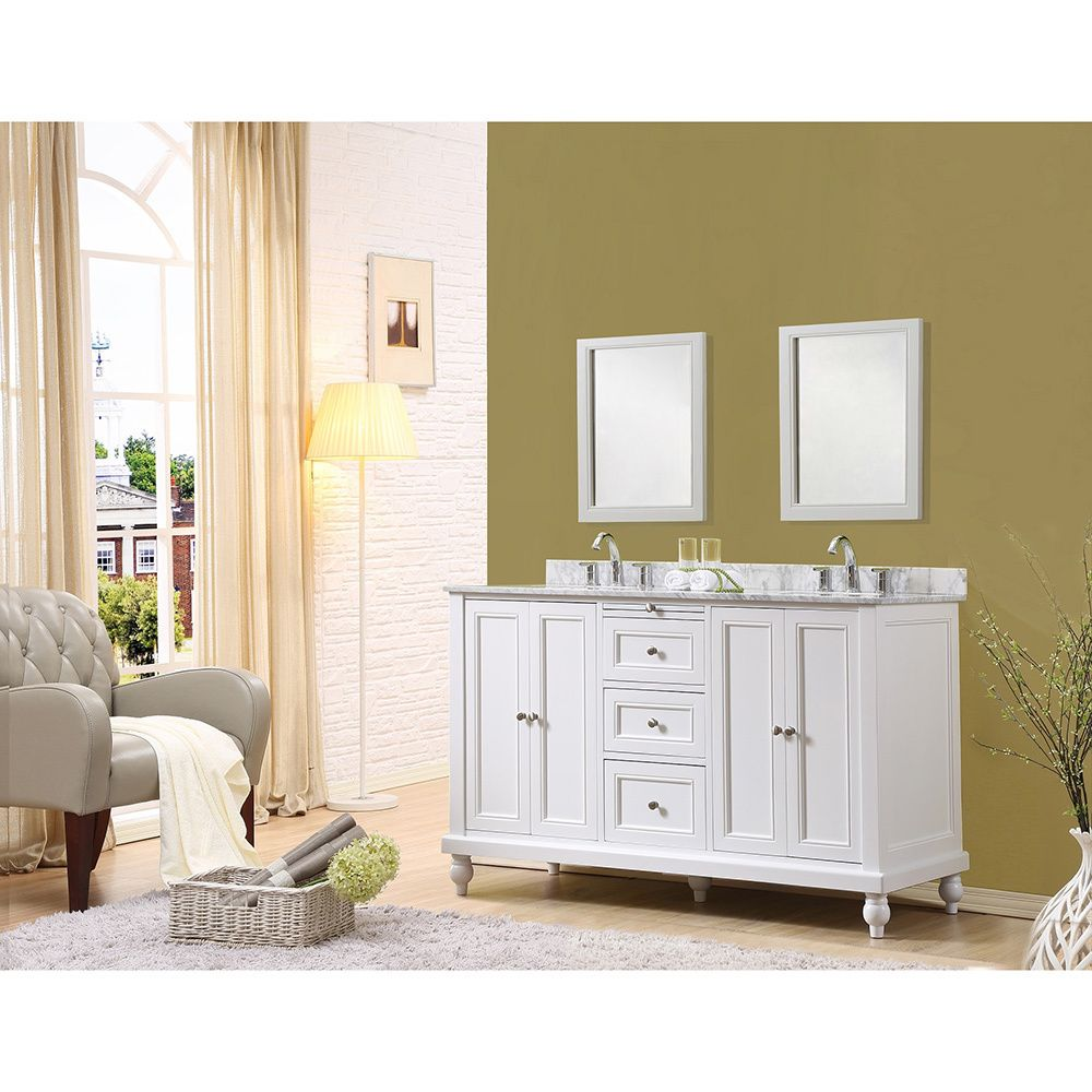 60-inch Classic Double Sink Vanity - 18558950 - Overstock.com Shopping - Great Deals on Direct Vanity Sink Bathroom Vanities