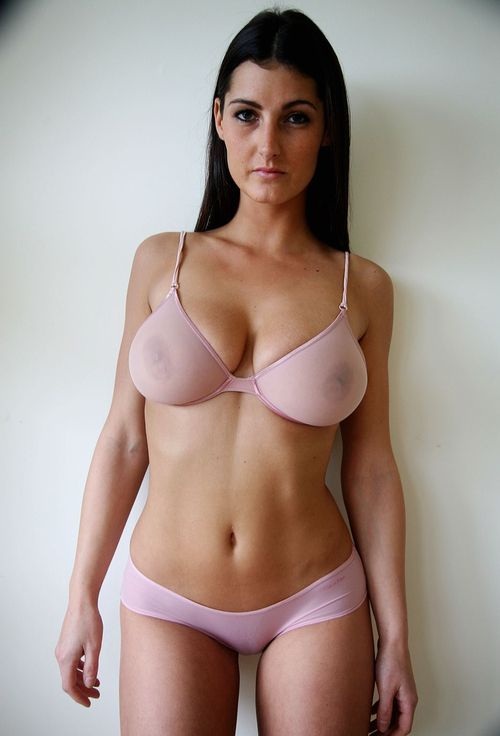 Amateur wife in sheer bra and panties