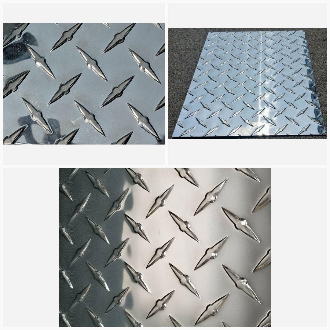 3003 Aluminum Diamond Tread Plate Sheet 045 X 12 X 6 Free Shipping Diamond Plate Aluminum Plates