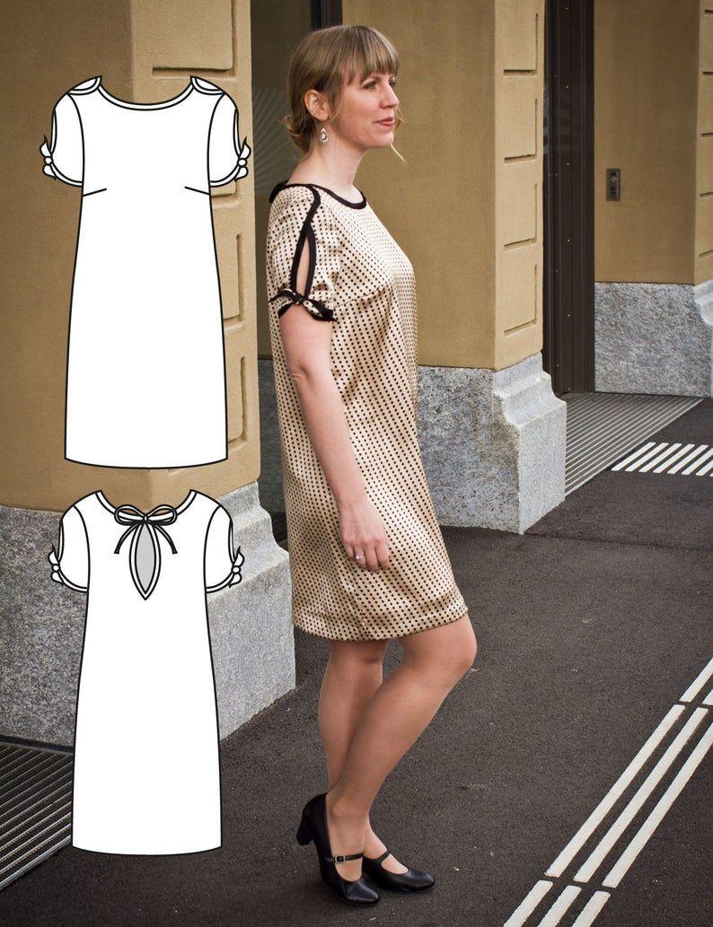 Bela Blouse and Dress Pattern - Blouse Pattern - Top Sewing Pattern - Womens top Sewing Pattern  #blousesewingpattern