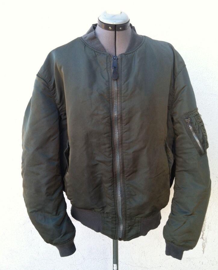 Vintage ALPHA INDUSTRIES USAF MA-1 Flight Jacket XXL Reversible #AlphaIndustries #FlightBomber