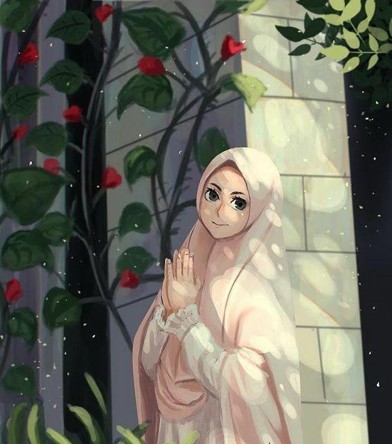 Kartun Muslimah Cantik Jutaan Gambar Girls Cartoon Art Islamic Cartoon Anime Muslim