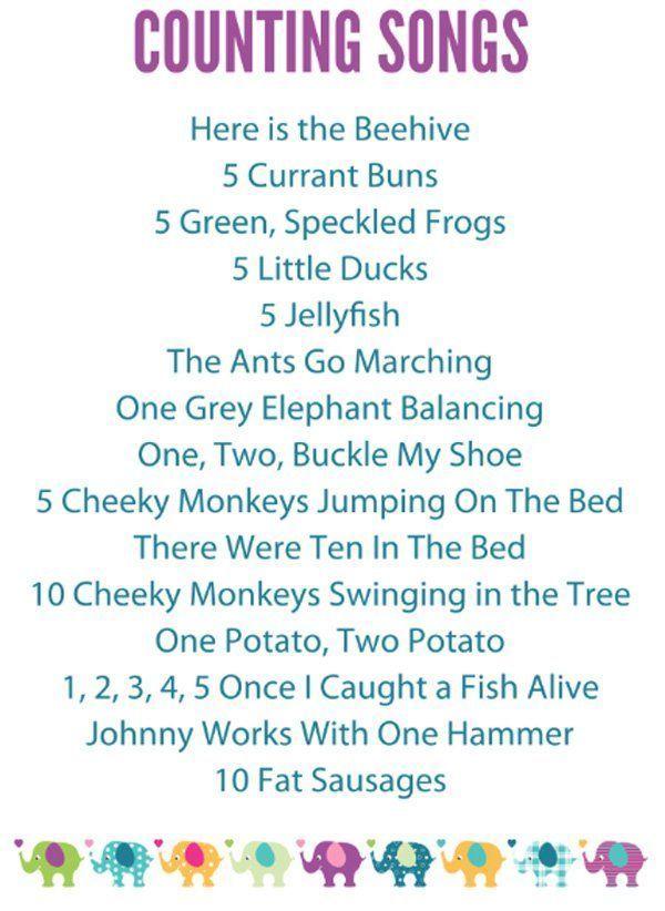 15 Preschool Counting Songs, Fingerplays & Rhymes | Kindergarten ...