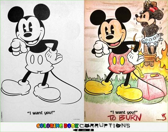 Coloring Book Corruptions Mickey