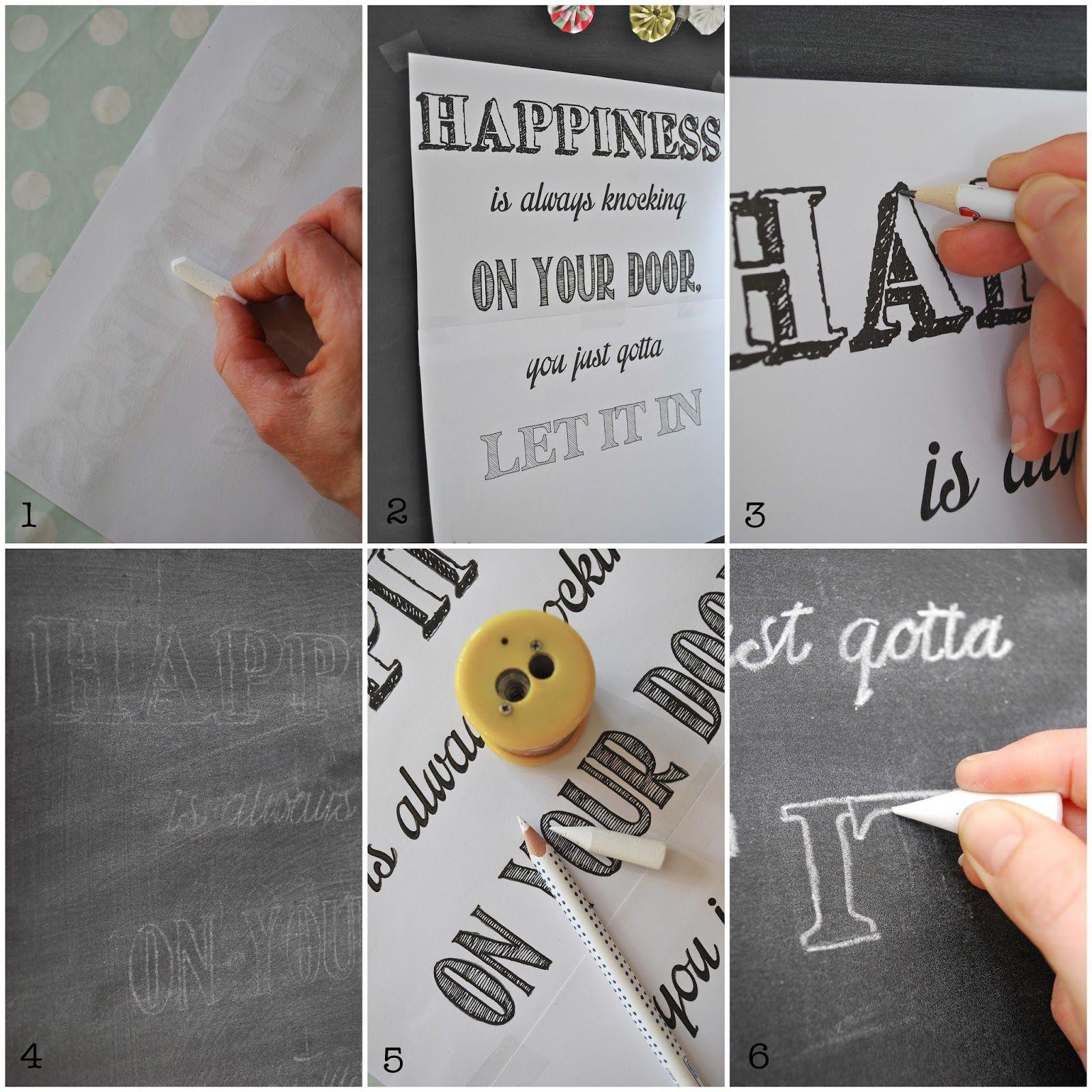 Tafelschrift - Schablone auf Tafel übertragen Anleitung ...