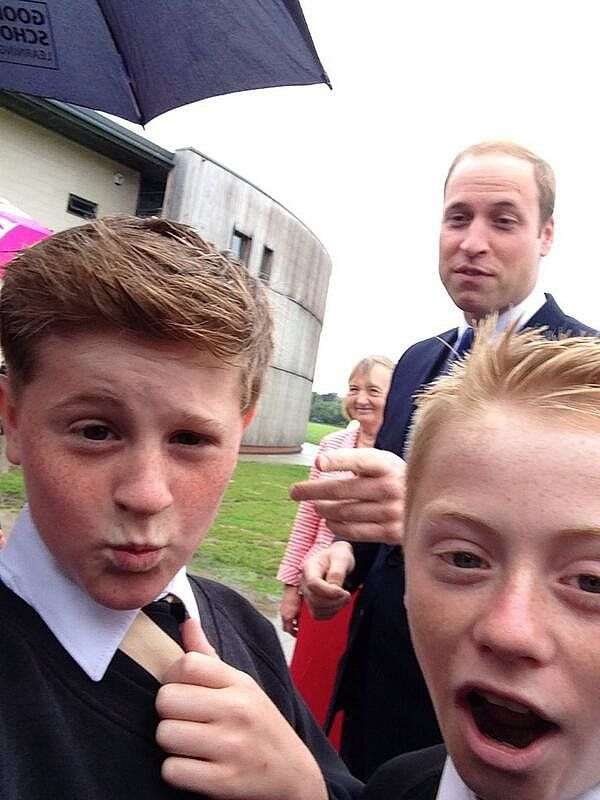 A Schoolboy In East Riding Of Yorkshire England Snapped What He Called A Cheeky Photo Of Prince William When The Royal Visited His School In June