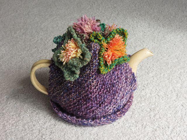 Ravelry: TassieKnitter\'s Handspun Purple Hanky Panky Tea Cosy ...
