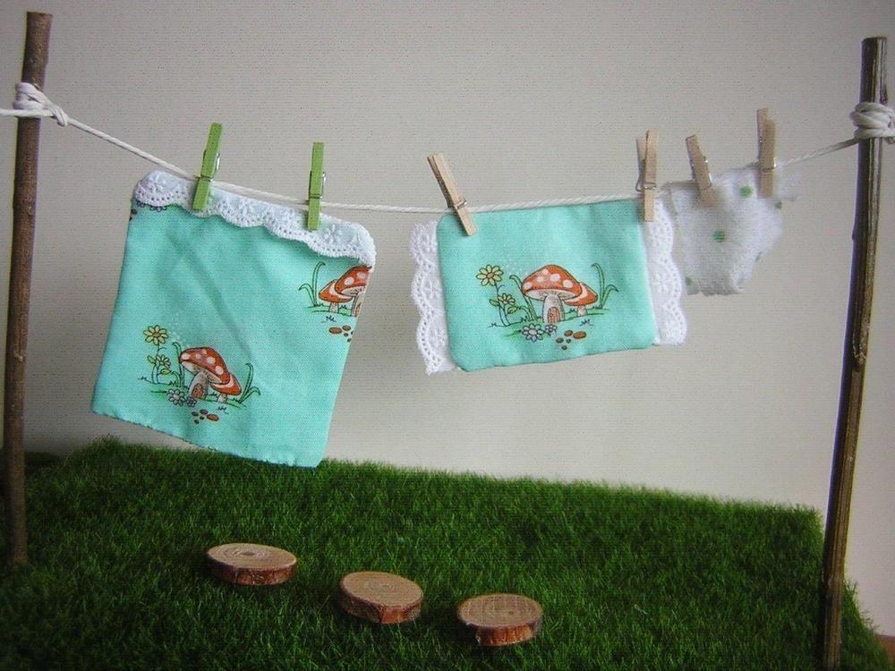 Fairy Washing Line & Stepping Stones Fairy Garden Accessories Fairy Bedding