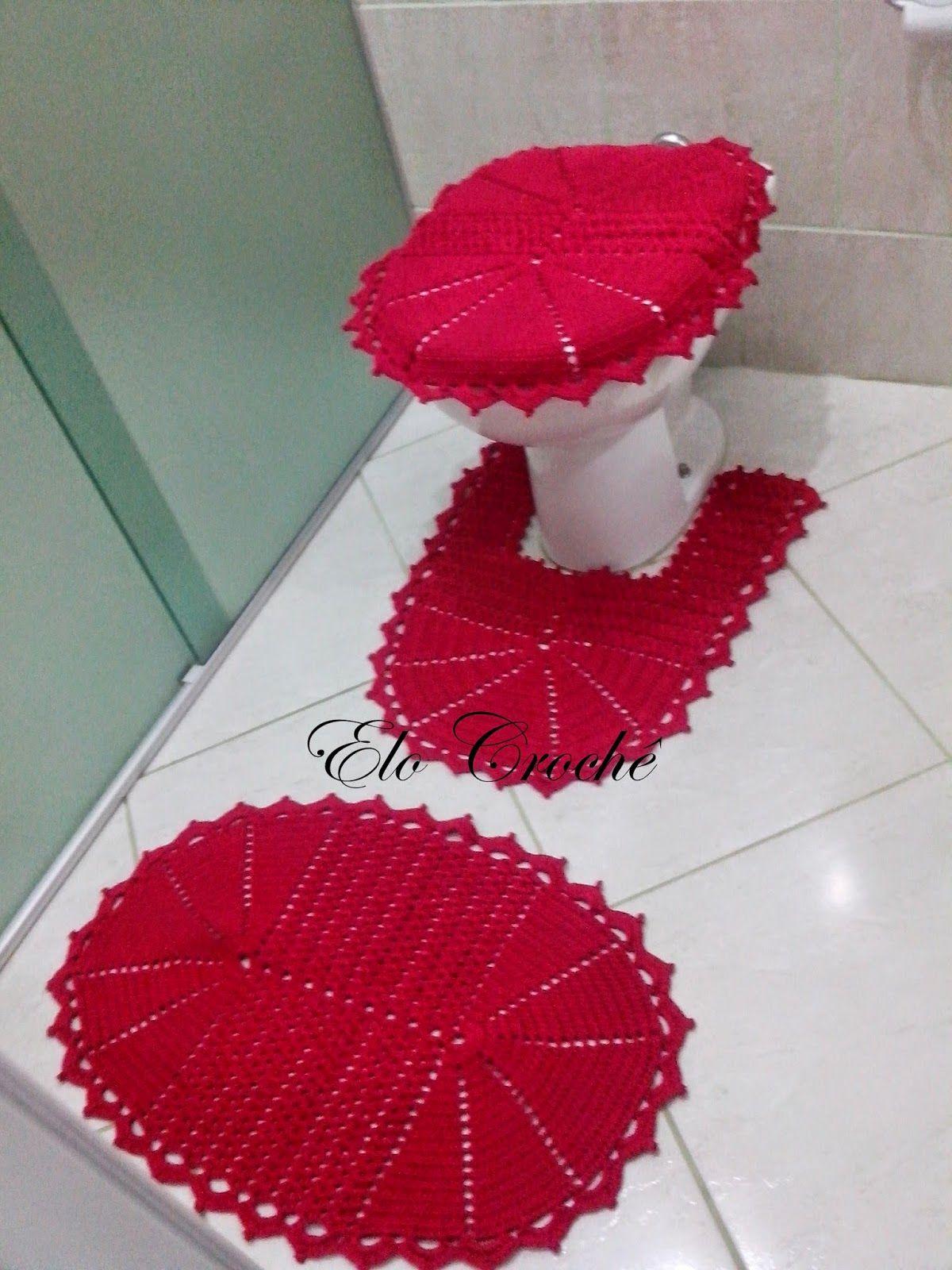 Elo Croche By Eloiza Castro Jogo De Banheiro De Croche Vermelho Paixao Jogos De Banheiro Croche Para Banheiro Jogos De Banheiro Croche