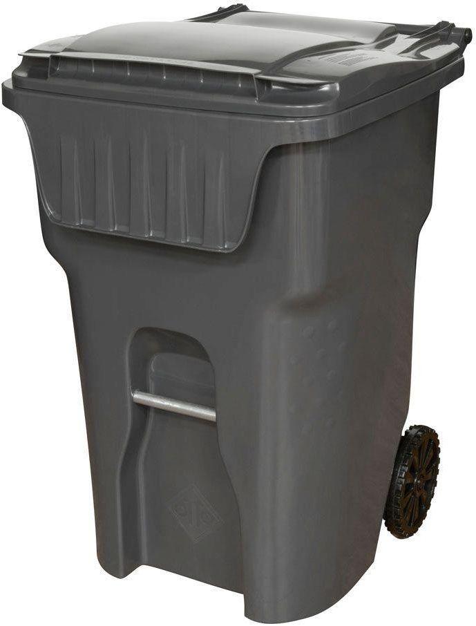Otto Edge 95 Gal Grey Heavy Duty Rollout Lidded Waste Garbage