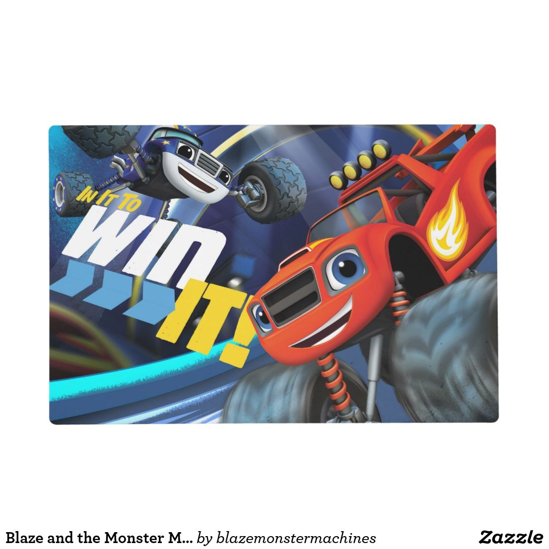 d9be6c882141 Blaze and the Monster Machines | In It To Win It Placemat | Place ...
