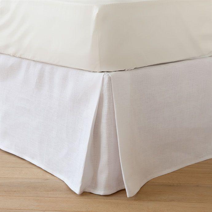 Natural linen valance sheet | Valance, Linens and Corner
