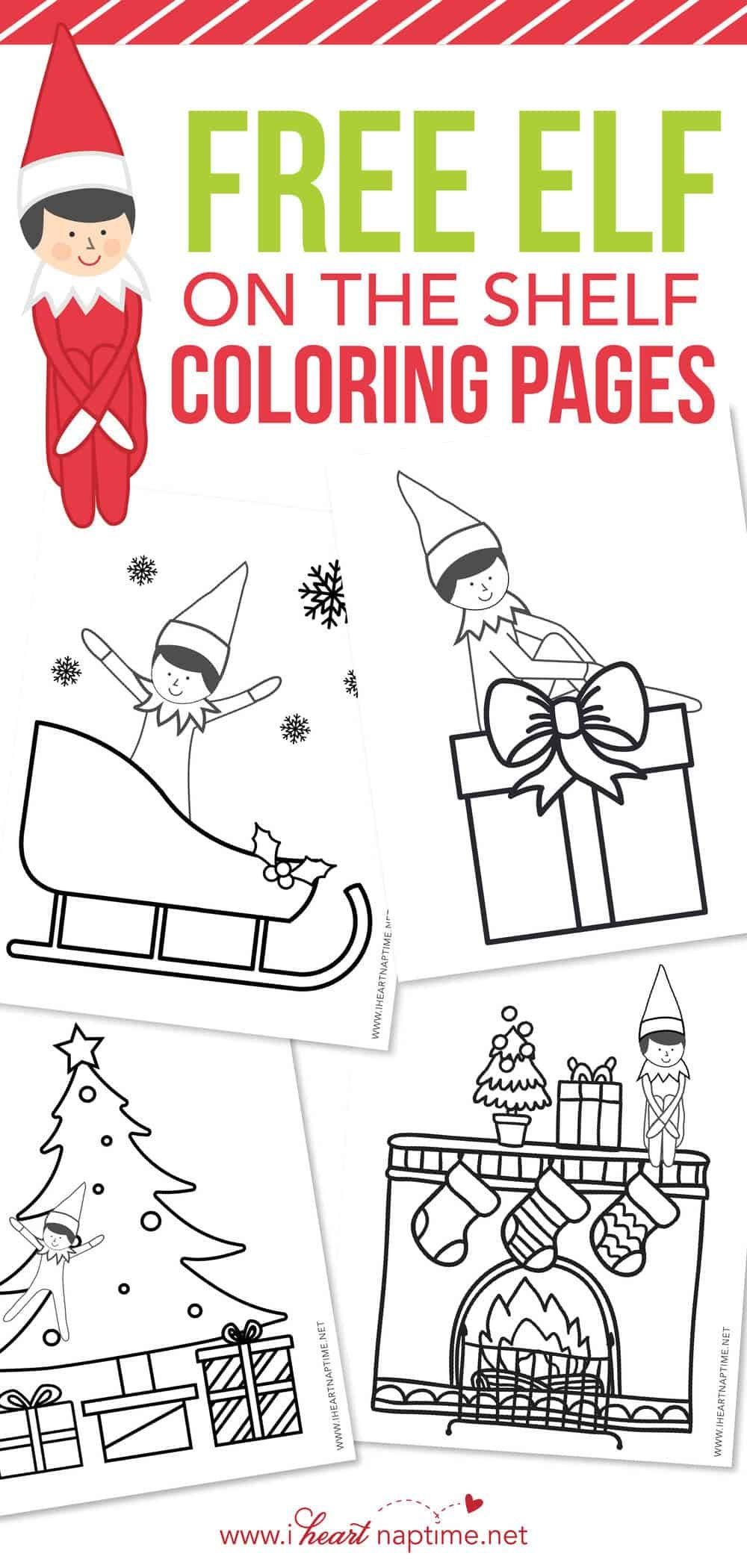 Free Elf On The Shelf Coloring Pages I Heart Naptime Coloring Pages Free Christmas Coloring Pages Printable Coloring Pages
