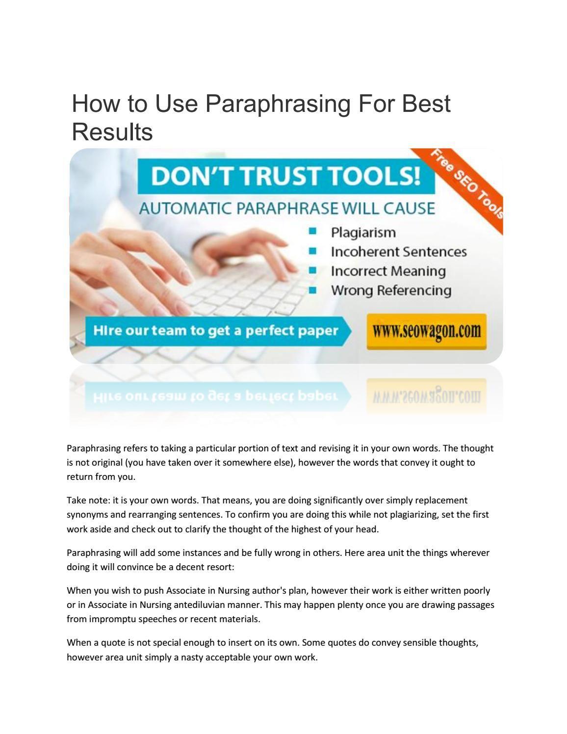 Online Paraphrasing Tool Best Plagiarism Checker Myself Essay