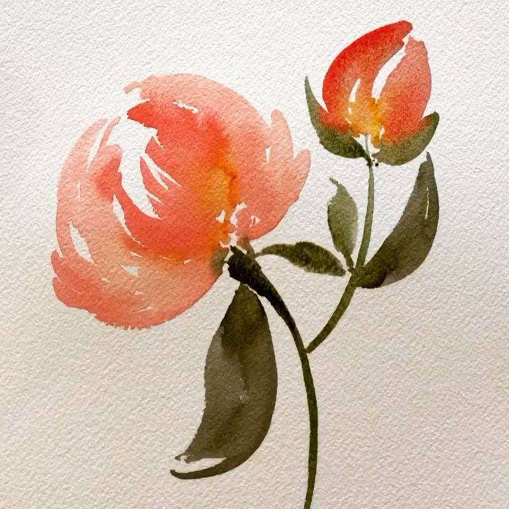 Photo of Loose Floral Watercolor