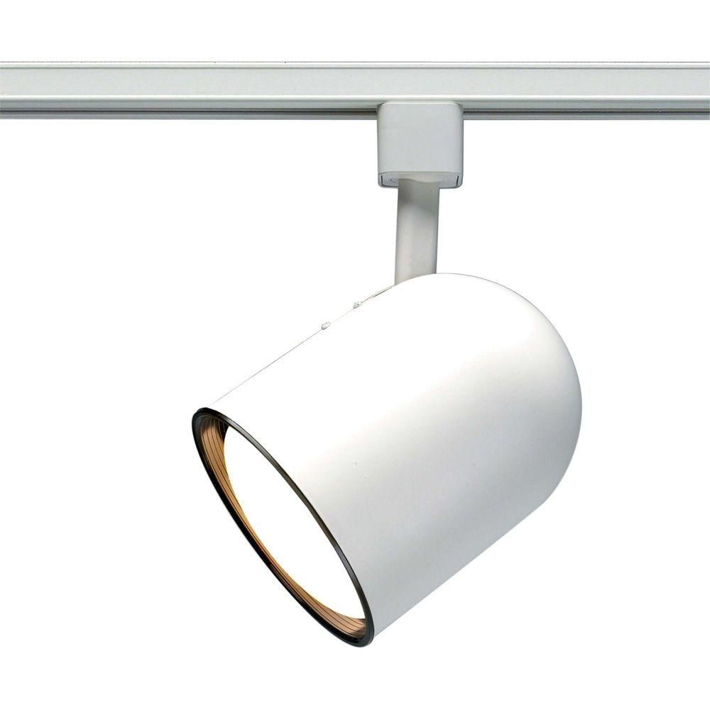 Glomar 1 Light Cfl R30 White Track Lighting Head Bullet Cylinder Hd Th365 The Home Depot Track Lighting Heads Track Lighting Lighting