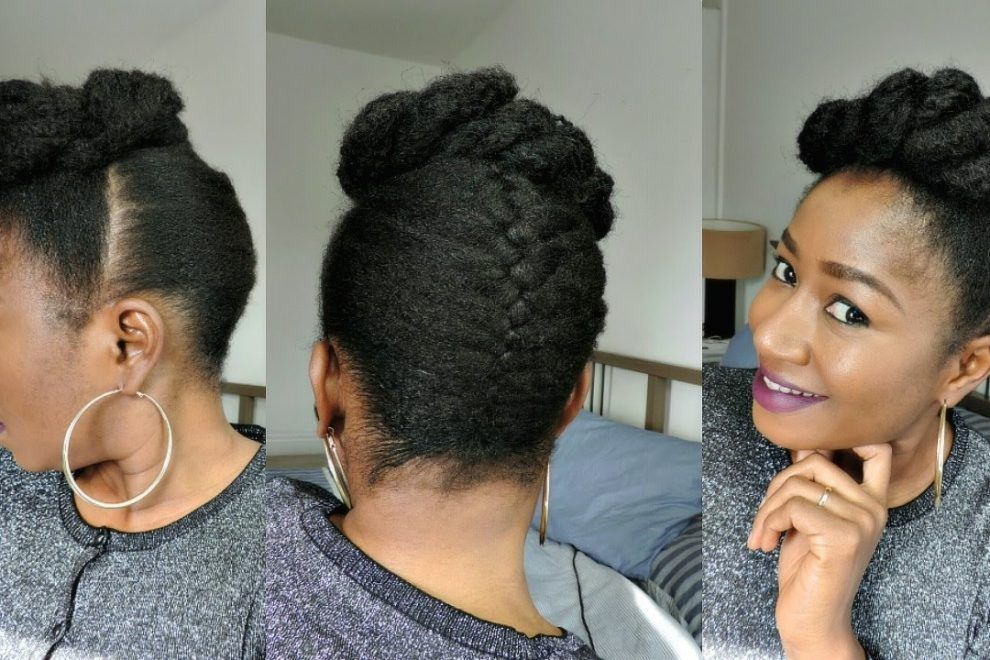 How To Style Short Natural Hair French Braid Updo Prayogs Natural Hair Styles Braided Hairstyles Updo Natural Hair Braids
