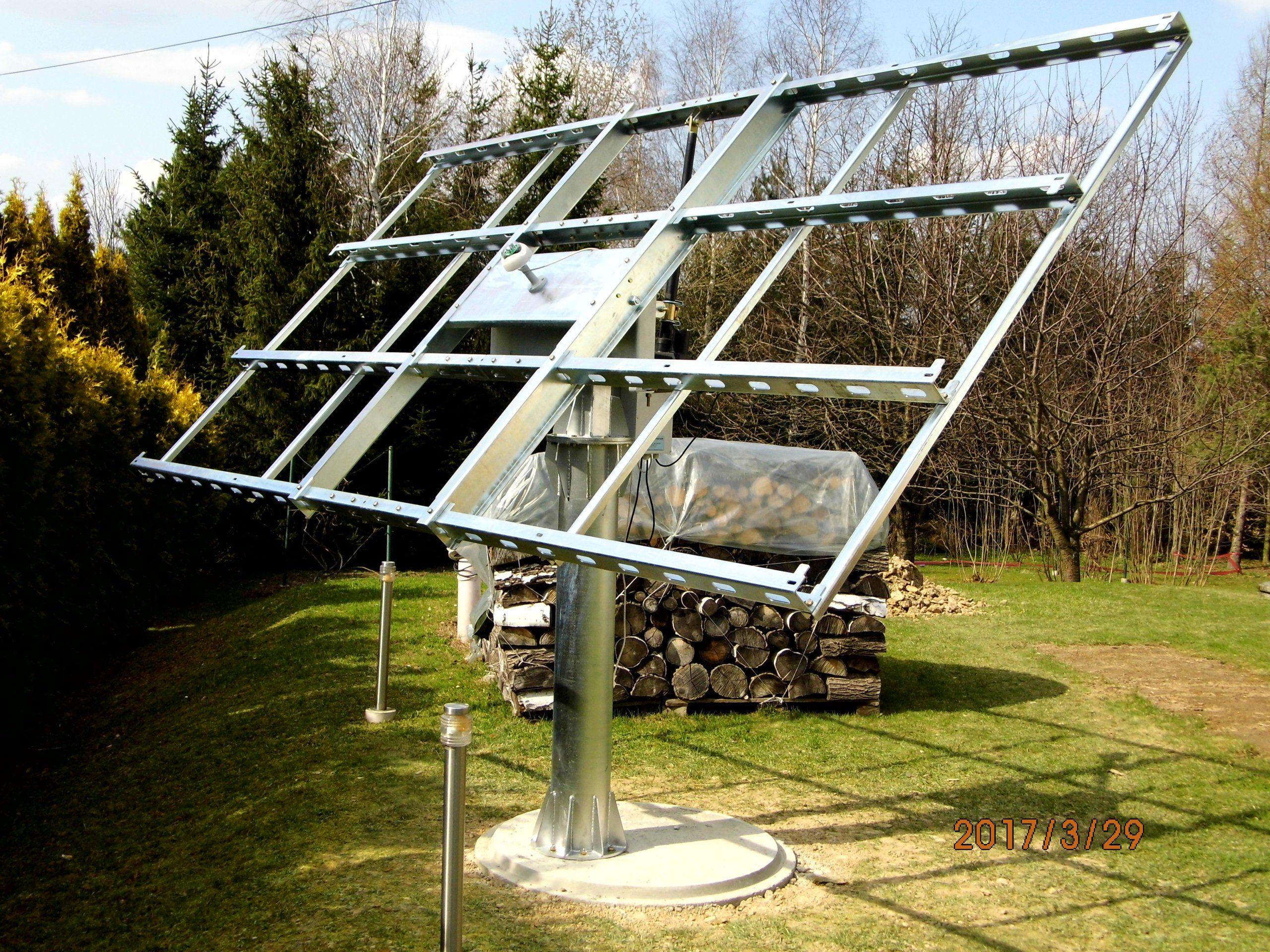 Solar Tracker System Nadazny 2 0 Kwp 8 Paneli Solar Energy Design Solar Energy For Home Solar Technology