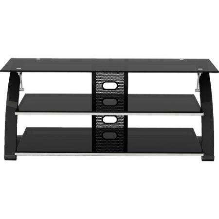 Solo Television Stand, for TVs up to 60 inch, Black, Black ...