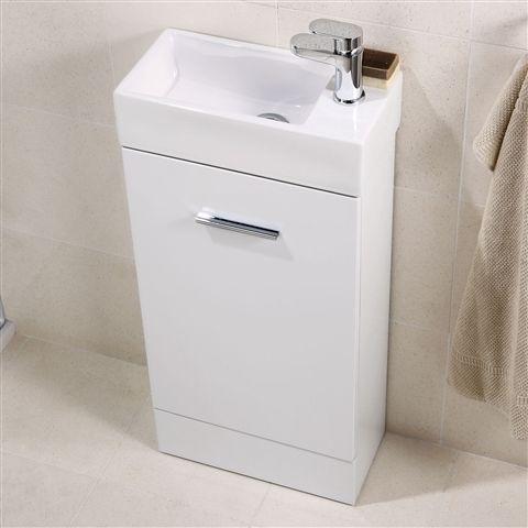 Vanity Bathroom On Units Small Basin Cabinets Cheri Slimline Cloakroom