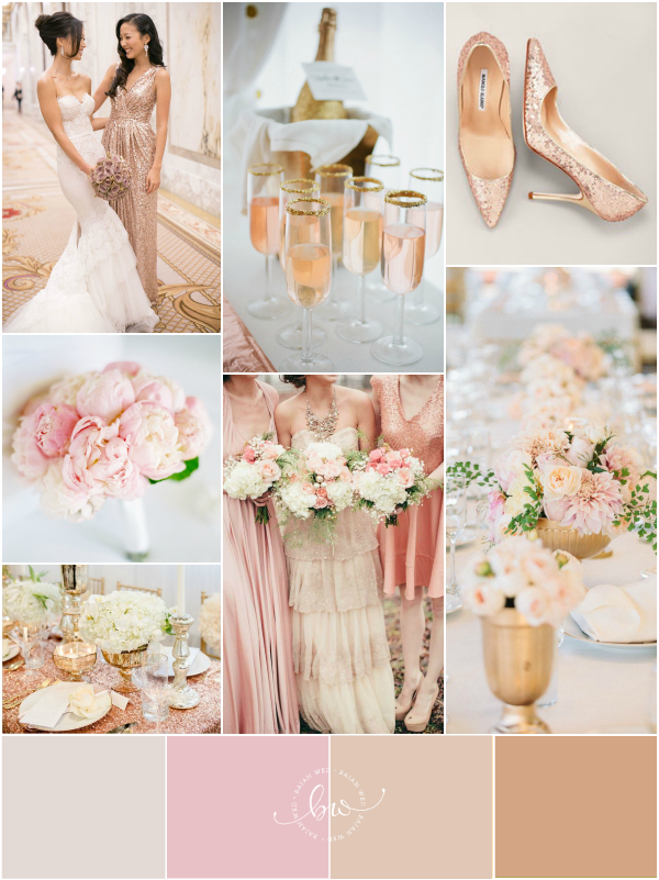 1201c7f9924 Top Wedding Color Combinations - Rose Gold   Pink by  bajanwed