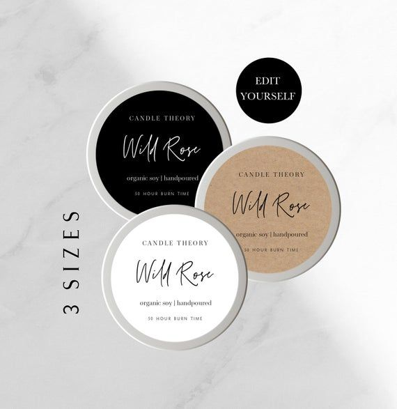Editable Round Label Round Label Template Avery Template Etsy In 2021 Cosmetic Labels Label Templates Round Labels
