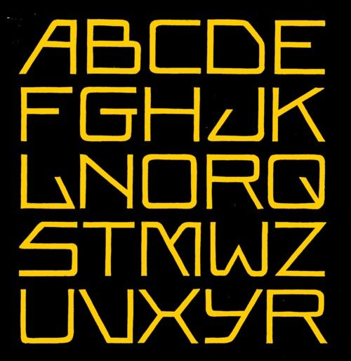 Alphabet Based On Lettering Of The Amsterdam School It S Hard To