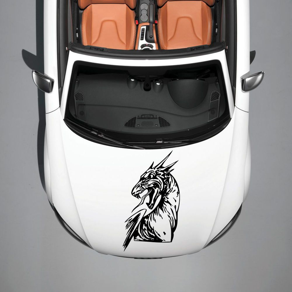 CAR HOOD VINYL STICKER DECALS GRAPHICS DESIGN ART DRAGON