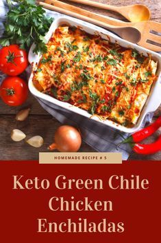 Keto Green Chile Chicken Enchiladas - It is a dish to die for! This dish is extremely flavorful really creamy and as being a reward it's low-carb and gluten-free! #chickenfoodrecipes #todieforchickenenchiladas Keto Green Chile Chicken Enchiladas - It is a dish to die for! This dish is extremely flavorful really creamy and as being a reward it's low-carb and gluten-free! #chickenfoodrecipes #todieforchickenenchiladas